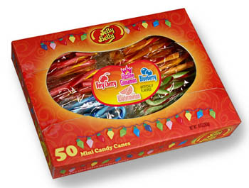 Jelly Belly Mini Candy Canes at SpanglerCandy.com