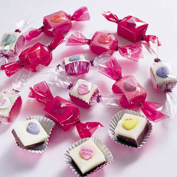 conversation heart fudge from Family Fun dot com