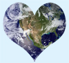 Heart Earth artwork copyright 2010 Y is for Yogini